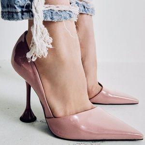 Patent finish heels